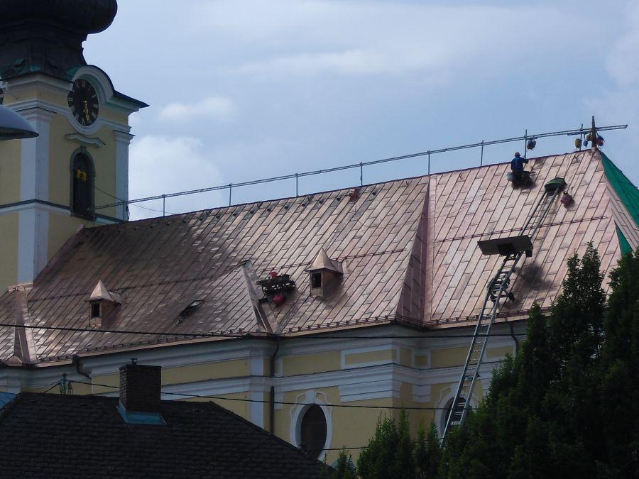 Kirchendach Tafeldeckung